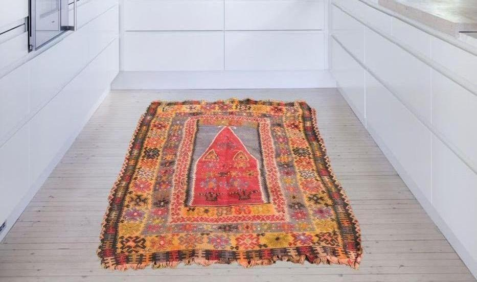 1890's antique Turkish prayer kilim