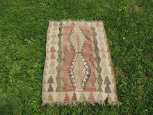 "Vintage Turkish kilim ""coffee"" - bosphorusrugs  - 6"
