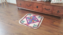 "2,3"" x 2,3"" ft. Square Wool Felt Rug A-792"
