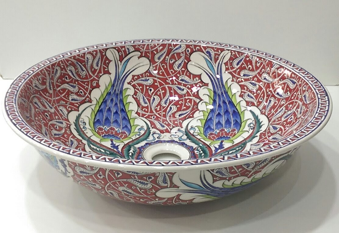 Hand Painted Ceramic Sink SS-017