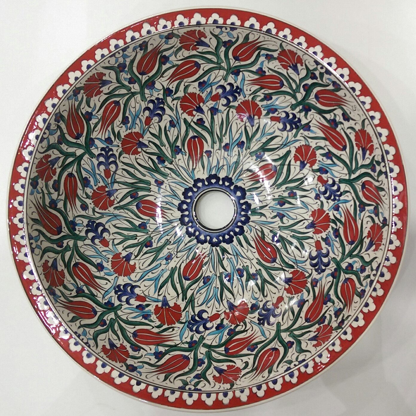 Hand Painted Ceramic Sink SS-024