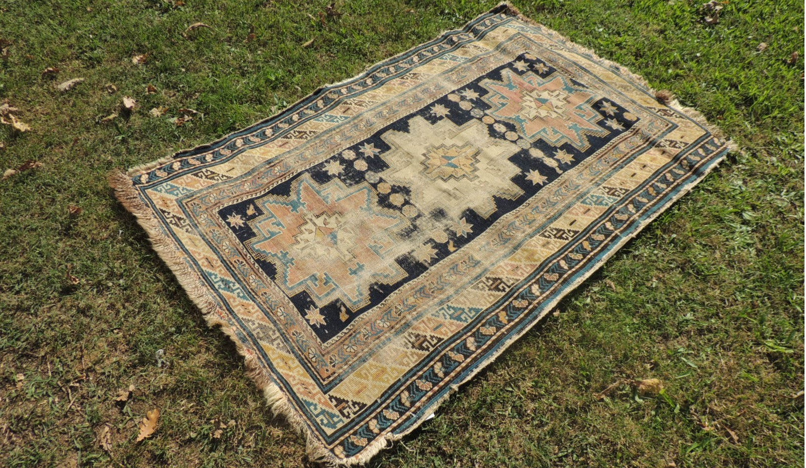 Antique Worn Caucasian Area rug - bosphorusrugs  - 1
