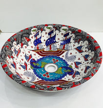 Hand Painted Ceramic Sink SS-009