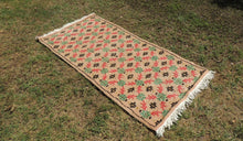 Cute and Decorative Vintage Turkish Wool Carpet