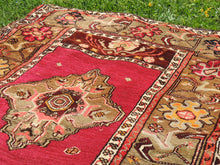 "Vintage ""Sivas"" Turkish area rug - bosphorusrugs  - 5"