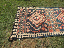 4x11 feet Antique Turkish Kilim Rug from Malatya