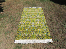 Circa 1970's Shades of Green Lovely Vintage Area Rug