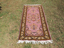 Cute Decorative Turkish Area Rug with Lilac Color