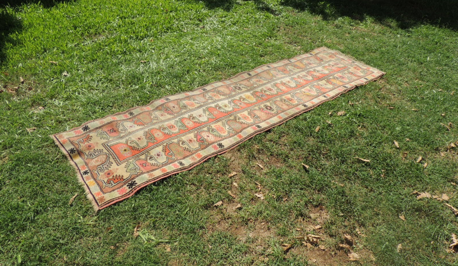 Vintage Handmade Turkish Runner Rug - bosphorusrugs  - 1