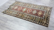 Vintage Brown Turkish Carpet from Western Turkey Milas Carpet
