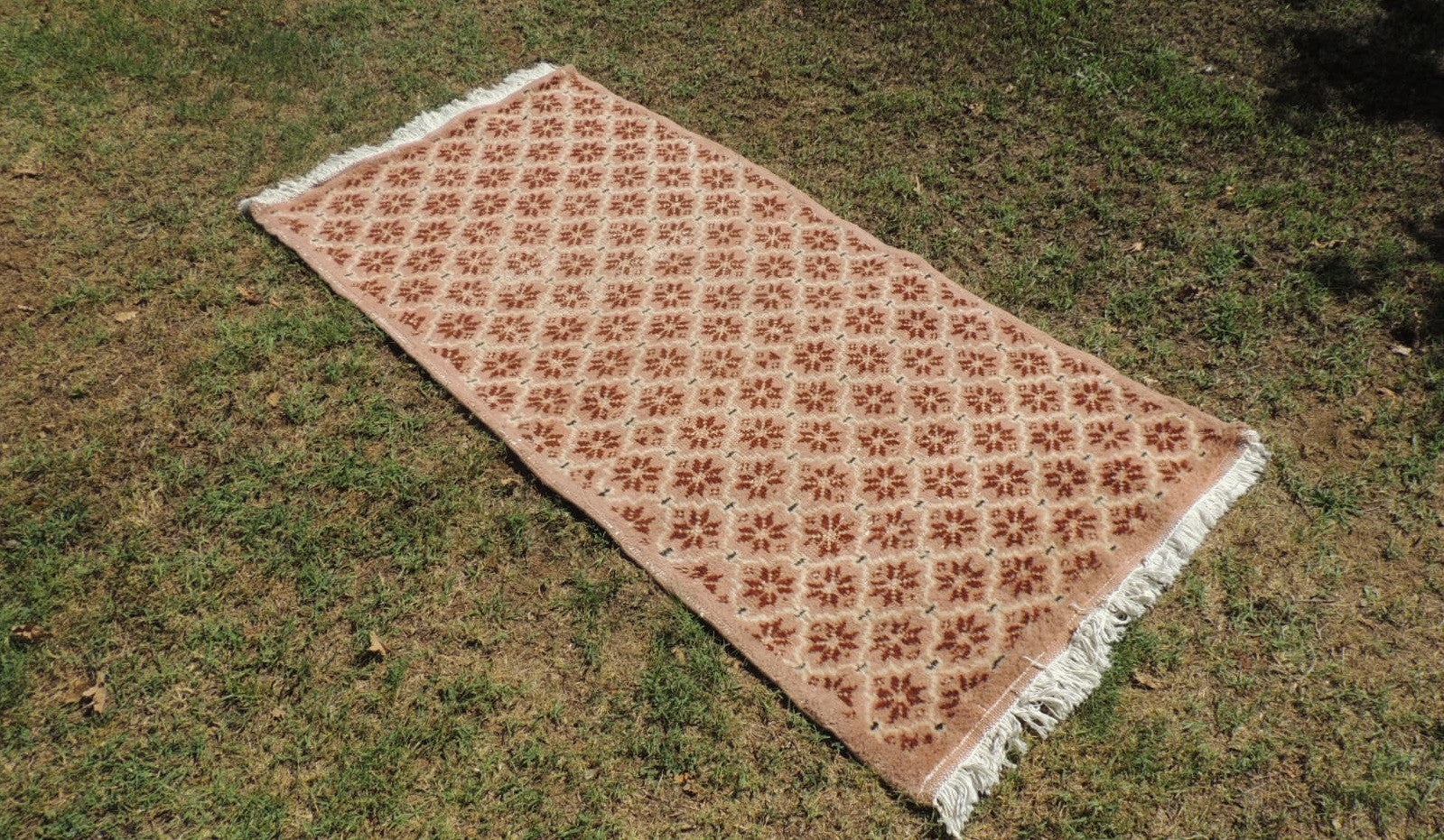 Wool on Cotton Turkish Area Rug from Midwest Turkey
