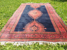 "Navy Turkish area rug ""Burdur"" - bosphorusrugs  - 4"