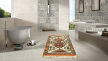 Orange and Beige Wool Turkish Carpet