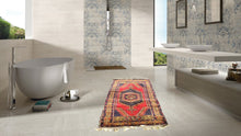 Navy and Red color Vintage Turkish Area rug