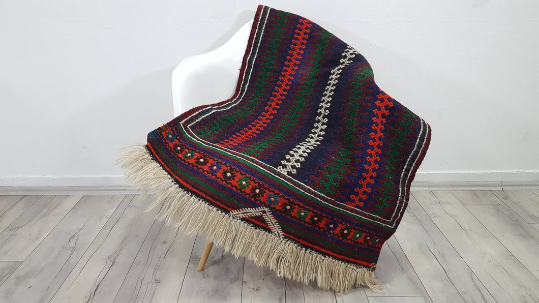 Persian Afshari Tribal Kilim Rug