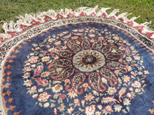Rare Round Turkish Area Rug with Elegant Look