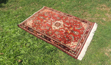 Red Persian wool carpet - bosphorusrugs  - 1