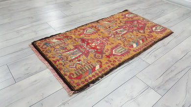 Rug with Ship and Vase Motifs