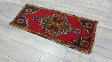 70's Red Small Rug