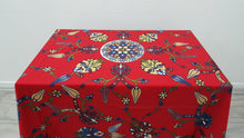 Square Tapestry Red Colour Table Cloth