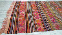 Bohemian Kilim Rug with Lovely Colors from Balikesir