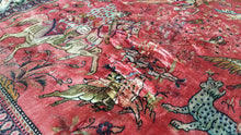 Pictorial Silk Persian Rug State of The Art 3,1x4,5 ft.