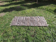 Striped Goat Hair kilim - bosphorusrugs  - 4
