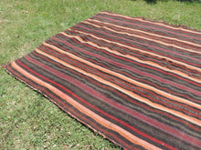 Goat Hair Striped Turkish nomad kilim - bosphorusrugs  - 3
