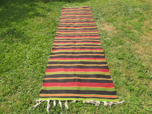 Striped Turkish runner retro kilim - bosphorusrugs  - 5