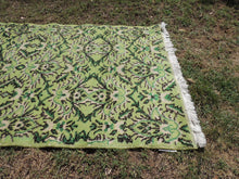 Shades of Green Lovely Turkish Area Rug