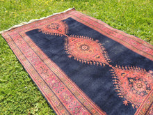 "Navy Turkish area rug ""Burdur"" - bosphorusrugs  - 6"