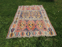 """Aegean"" Turkish kilim rug 5x7 - bosphorusrugs  - 3"