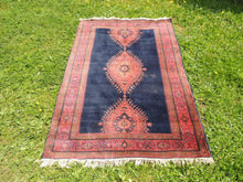 "Navy Turkish area rug ""Burdur"" - bosphorusrugs  - 5"