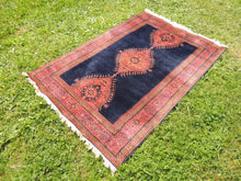Silky navy Turkish area rug - bosphorusrugs  - 6