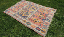 """Aegean"" Turkish kilim rug 5x7 - bosphorusrugs  - 1"