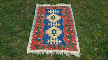 Cute Turkish Oushak Kilim Rug