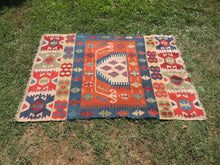 "Turkish Prayer Kilim Rug with ""Mihrab"""