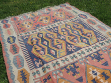 """Aegean"" Turkish kilim rug 5x7 - bosphorusrugs  - 6"