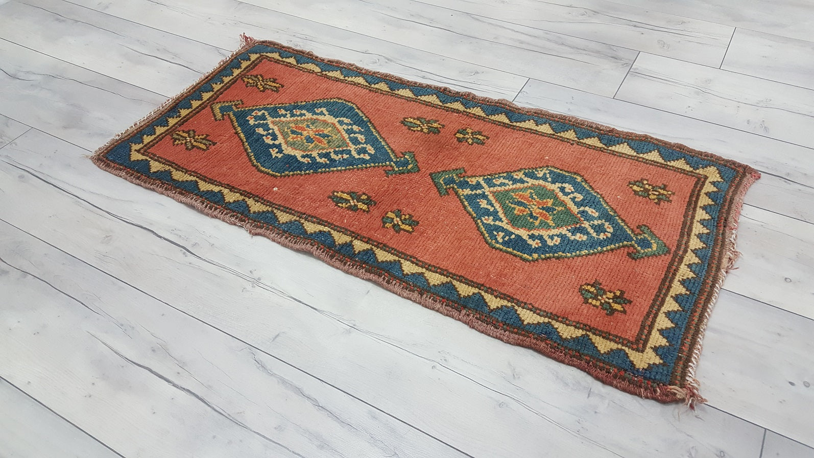 Faded Red Turkish Rug