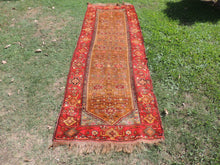 4x11 feet Antique Turkish Runner Rug from Eastern Turkey