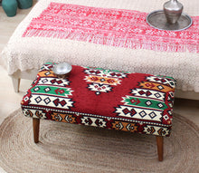 "Kilim Bench Hittite 16,5"" x 16,5"" x 35,8"" inches"