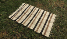 Shaggy Kilim Rug with Striped Design $99