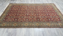 Red Turkish Kayseri Area Rug Large Size 6,5x9,6 ft.