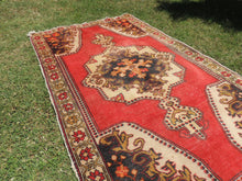 Vintage Turkish Area rug with low piles - bosphorusrugs  - 4