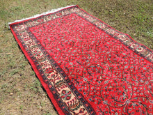 Red Area Rug From Western Turkey with Mountain Flowers Design
