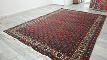 Vintage Red Turkish Kayseri Rug Bunyan 6,7x9,8 ft.