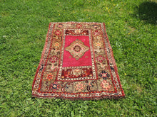 "Vintage ""Sivas"" Turkish area rug - bosphorusrugs  - 4"