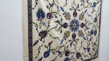 Cream Colour Cotton Tapestry Exotic Design Woven Cloth
