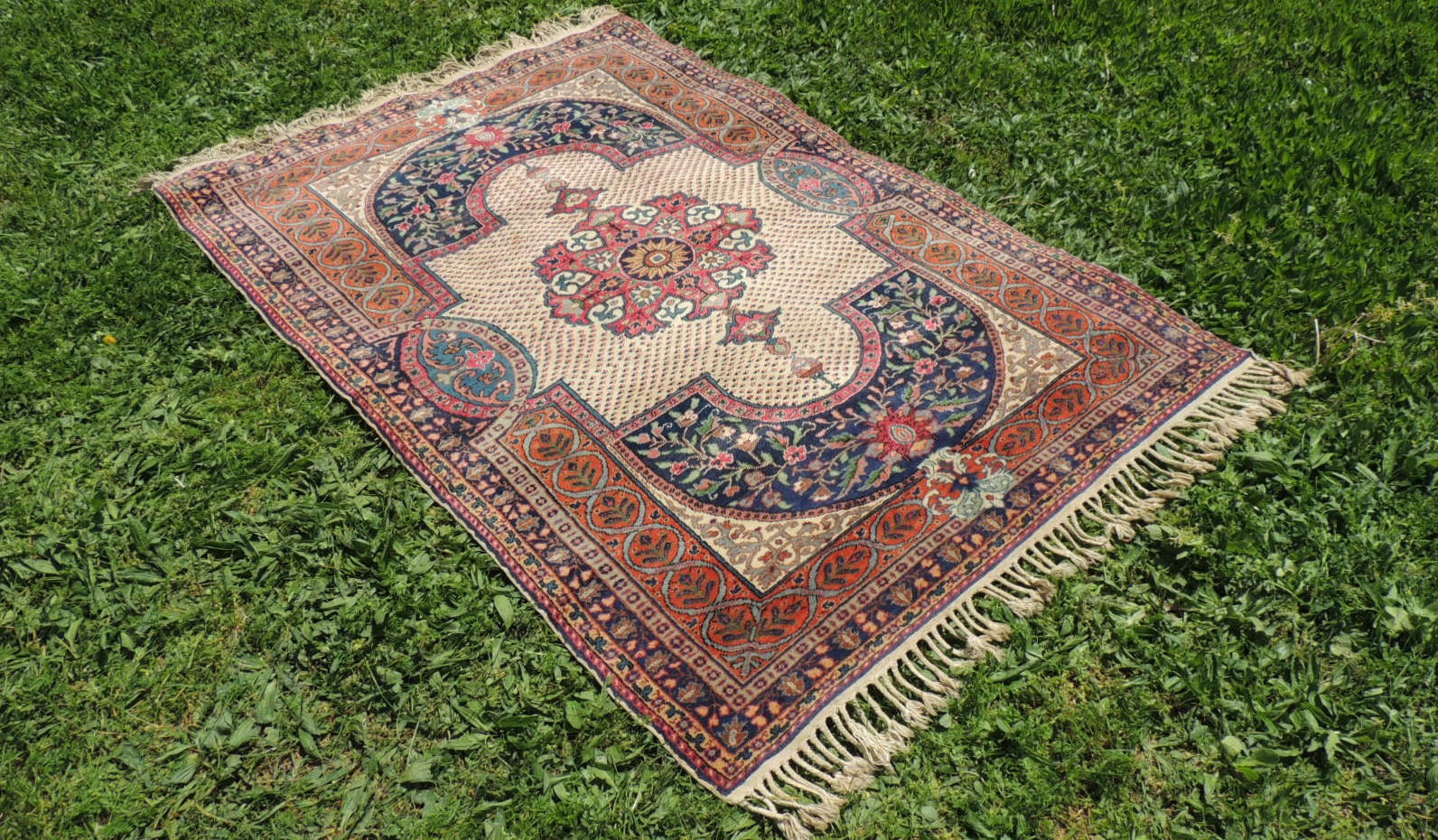 Antique Turkish Kayseri area rug - bosphorusrugs  - 1