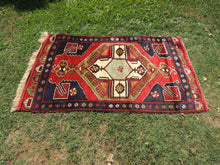 Rare Turkish Area Rug with Cross Design on Center